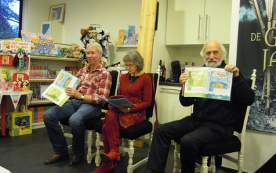 Voorlezen tijdens de presentatie bij De Boekenberg